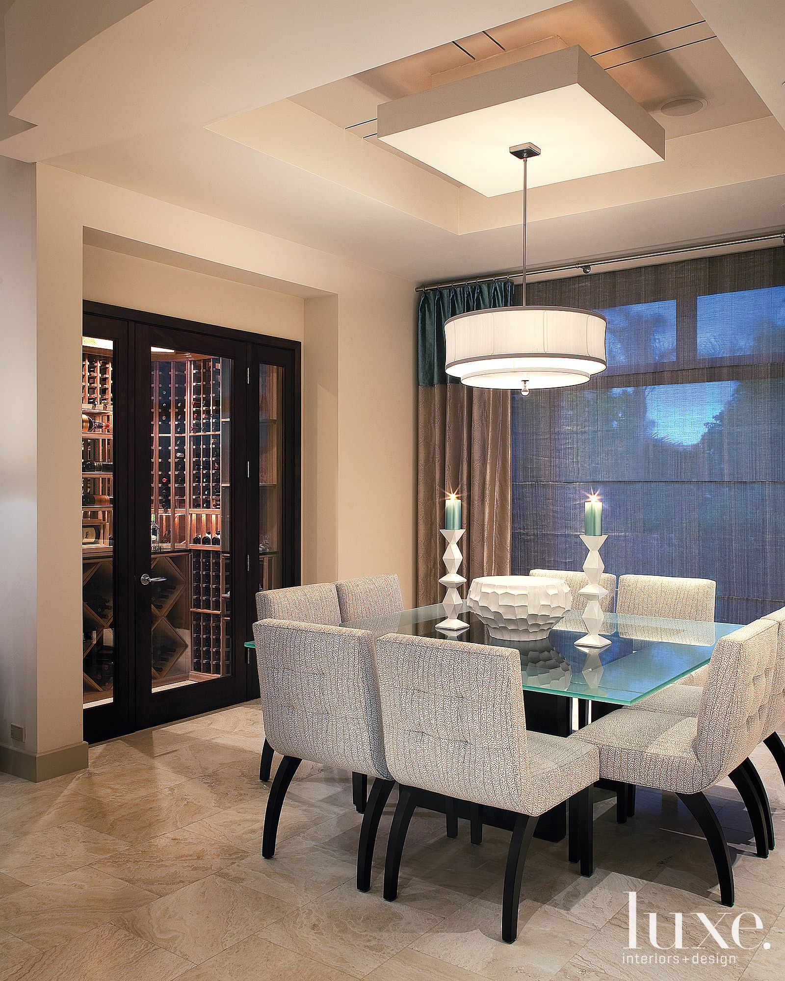Modern Chic Dining Room. Valley Views Were Perfected When