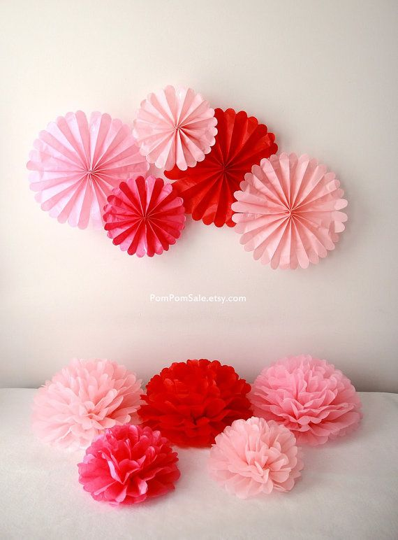 5 Tissue Paper Flowers Table Centerpieces For Baby Shower