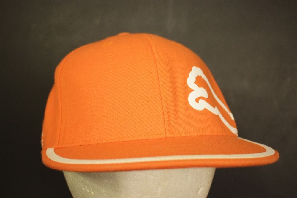 98883c0c5a1 Rickie Fowler Puma Golf Hat Cap Orange Big Logo Flex Fit L XL 7 1 4 - 7 5 8   Puma  Golf