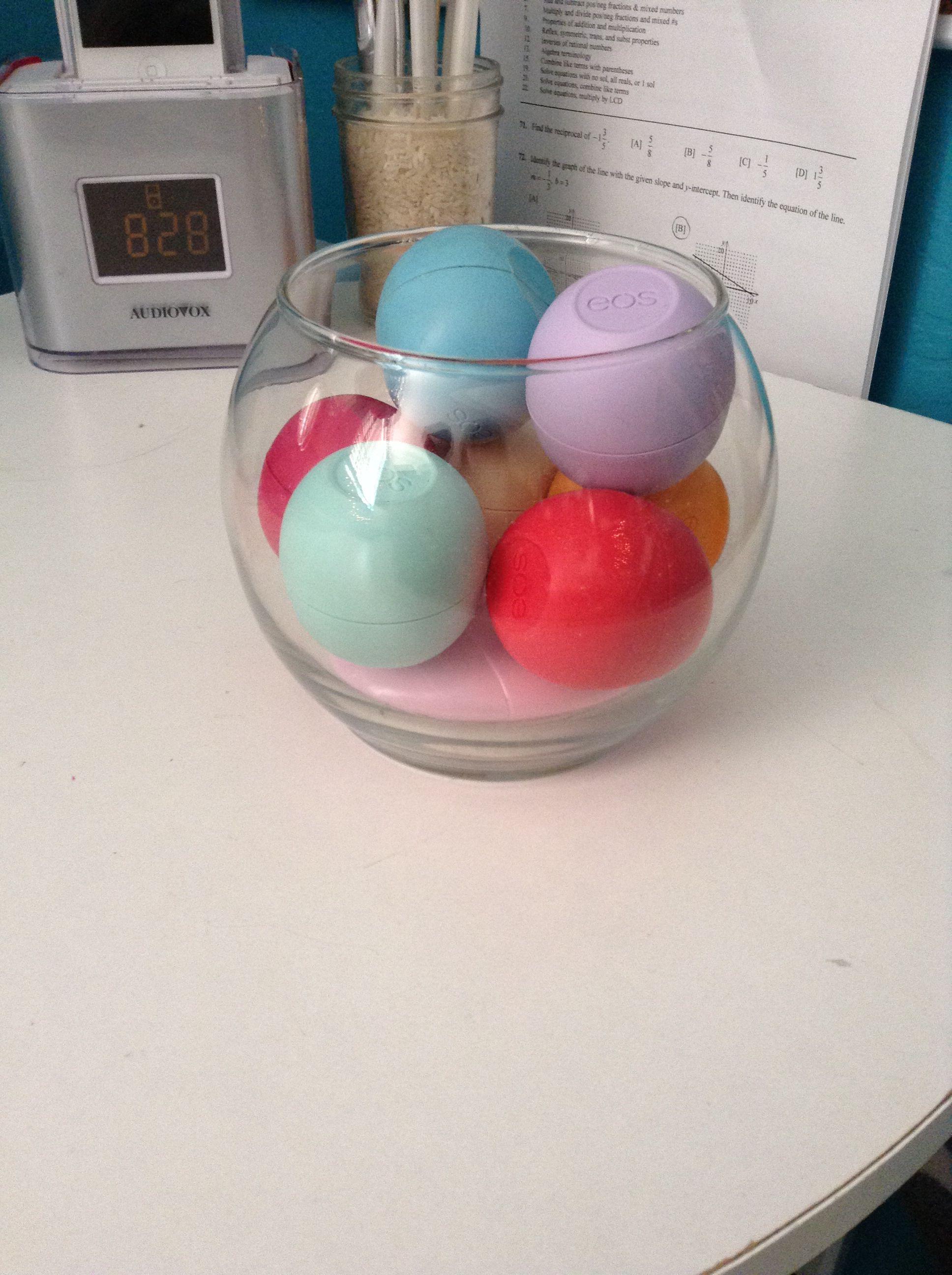 Fish bowl EOS lip balm holder | Make up | Pinterest | eos ...