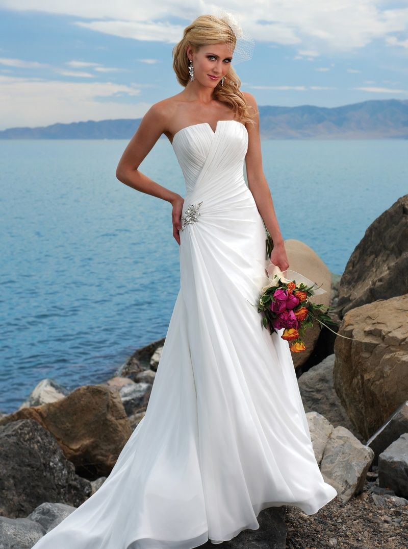 Strapless wedding dresses 2014 with diamonds wedding for Strapless summer wedding dresses