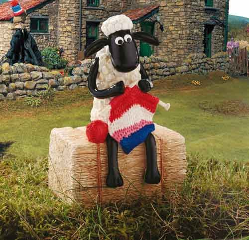 Knitting Shaun