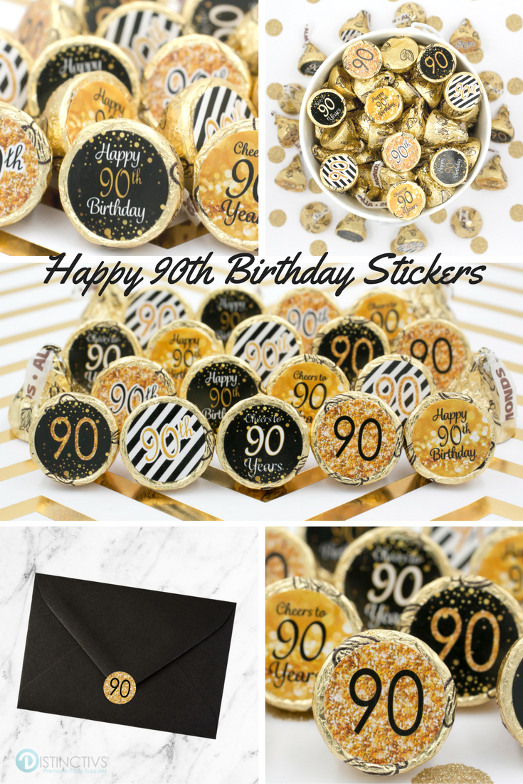 Create These Happy 90th Birthday Party Treats Hint We Used Almond Kisses That Always Have The Gold Foil Wraps