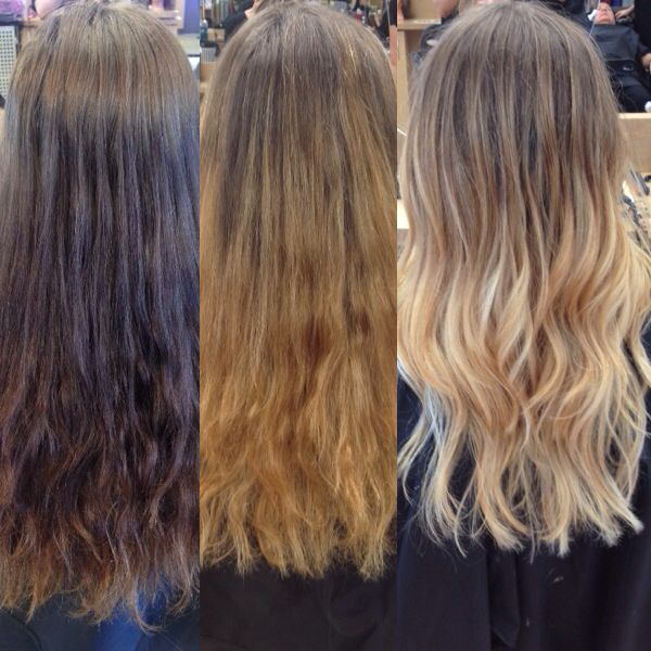 2 Stages Of Going Blonde From Multiple Old Box Dyes X1 Color