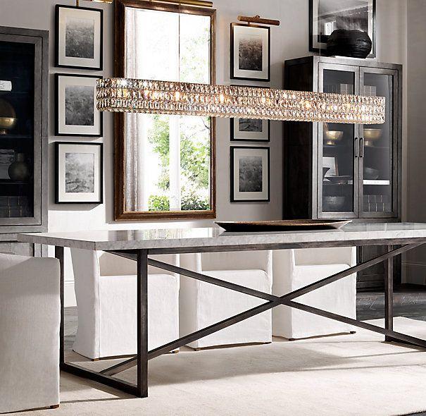 Torano Marble Rectangular Dining Table Restoration Hardware