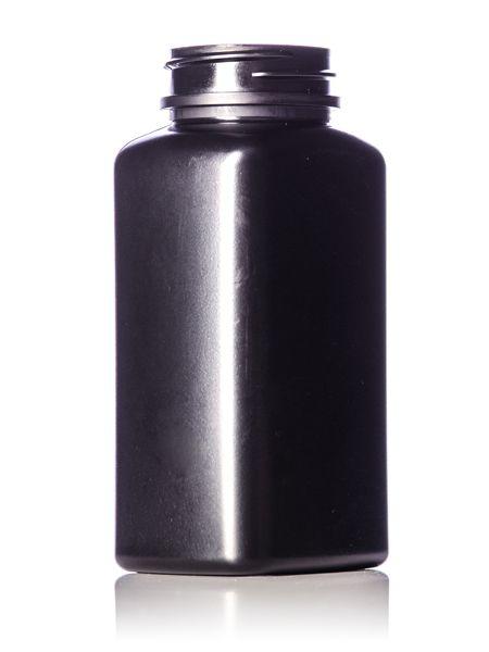 190 Cc Black Hdpe Plastic Oblong Pill Packer Bottle With 38 400 Neck Finish Bottle Plastic Jars Supplements Packaging