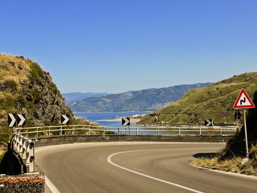 My Favorite Road! yellow, flowers, sea, street, flower
