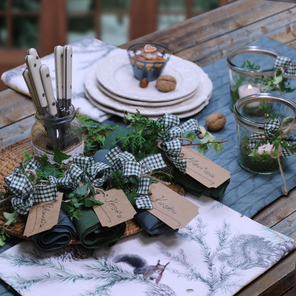 Tischläufer und Tischsets für Herbst und Weihnachten von ...