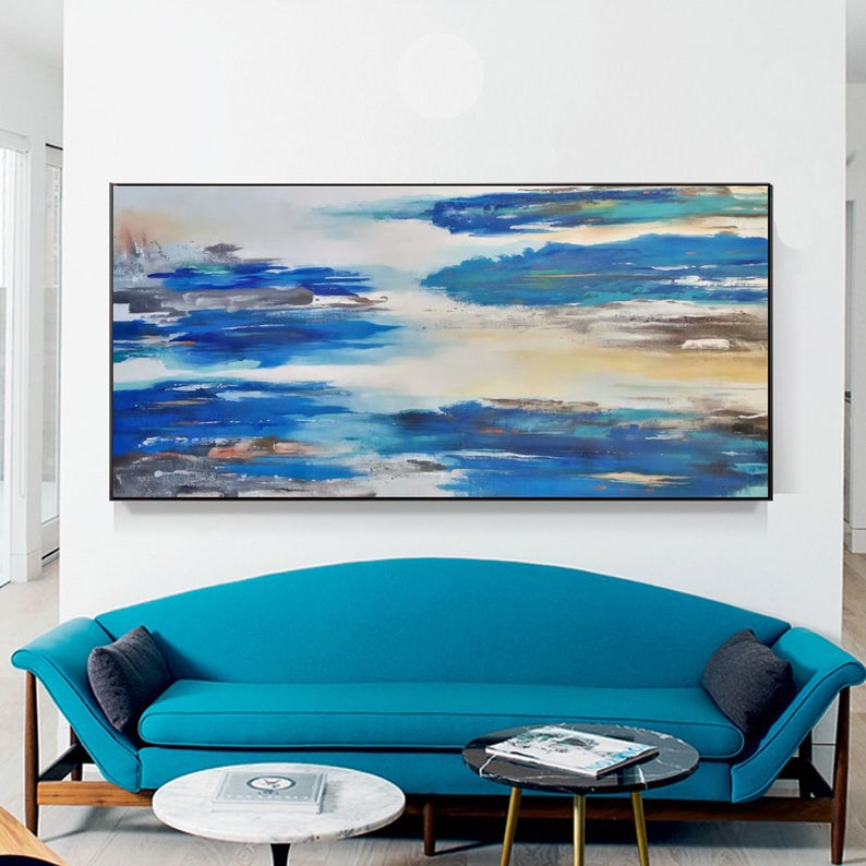 Blue abstract paintingblue landscape painting blue oil | Etsy #modernartpaintings #wallartpainting #abstractlandscape #abstractportraits #canvasartforsale #largepaintings #contemporarypainting #abstractacrylicpainting #originalartforsale #modernartpaintings #wallartpainting #abstractlandscape #abstractcanvasart #blackartpaintings #beautifulpaintings