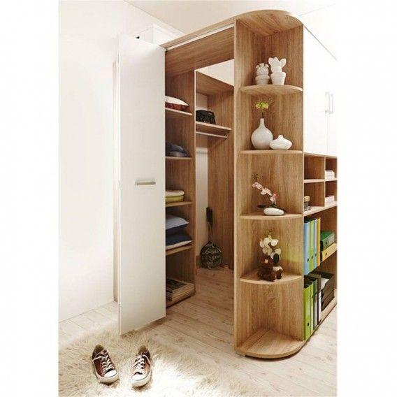 Kleiderschrank Corner (begehbar)   Eiche Sonoma Dekor / Weiß | Home24