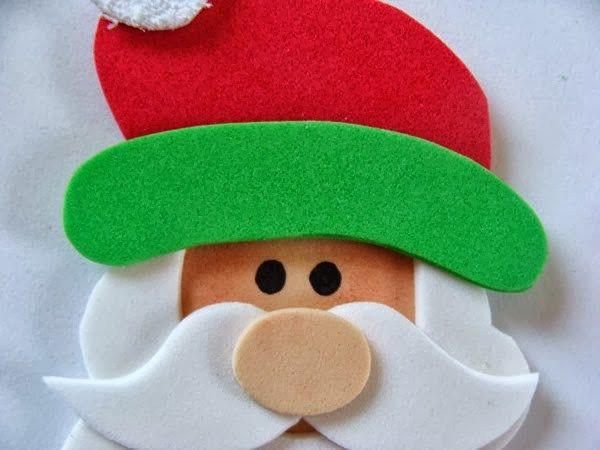 Decoraci n navide a con cd y fomi goma eva - Decoracion navidad goma eva ...