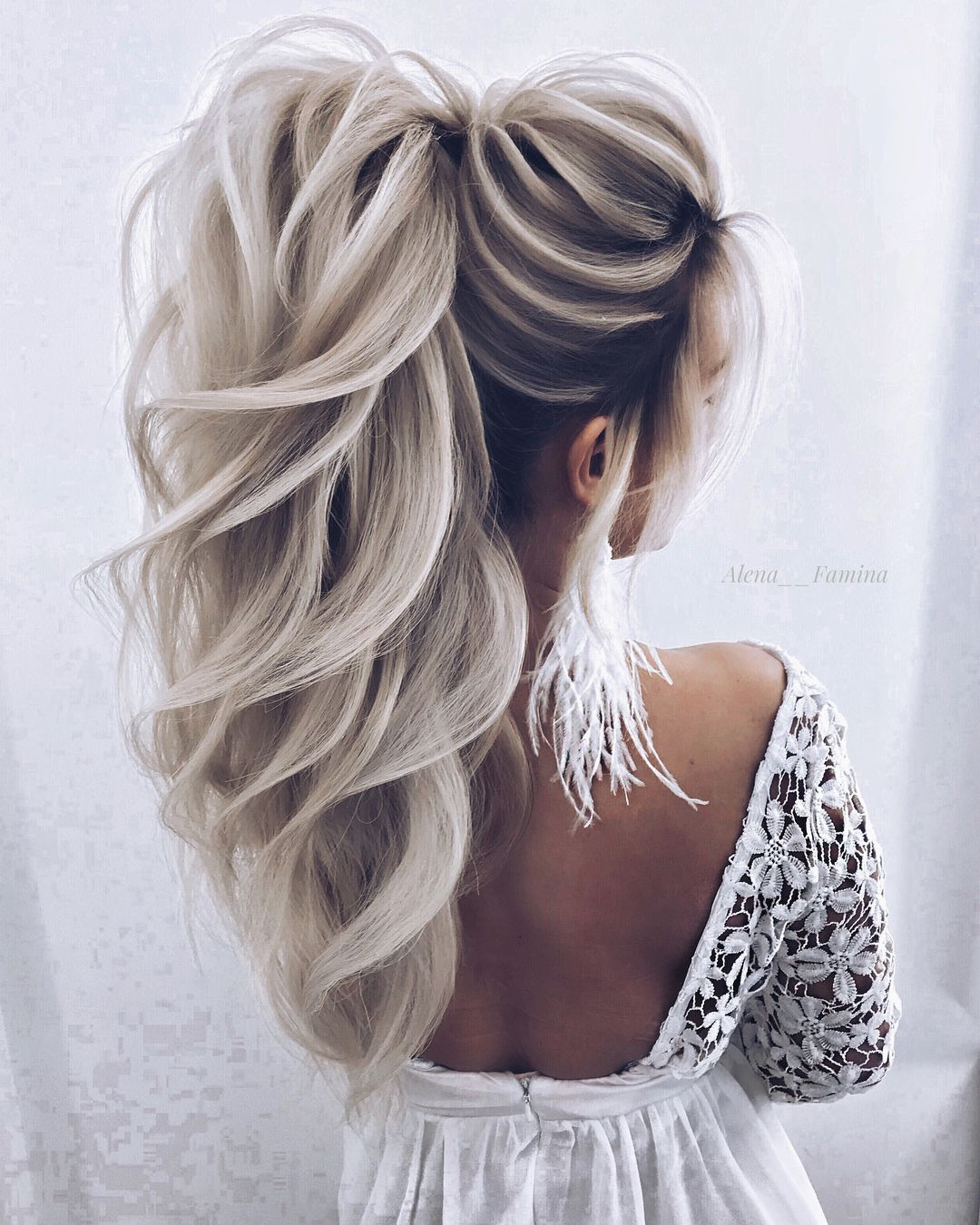 White Wedding Hairstyles: When I Get Old And Have All White Hair I Want This Done