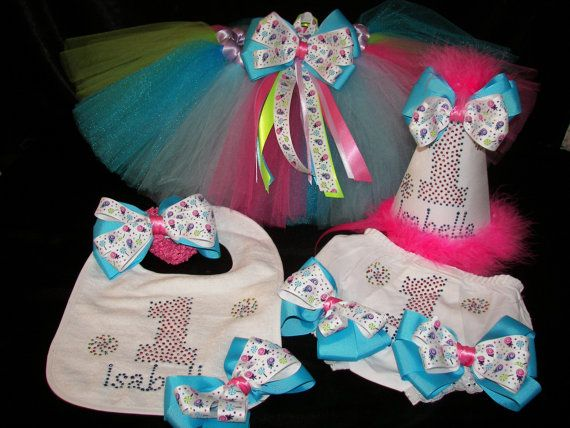 Bling 1st Birthday Set Party Hat Diaper Cover