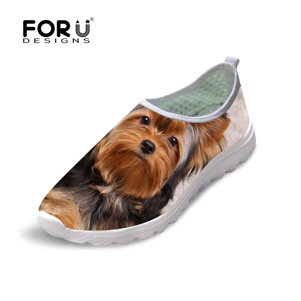 Price tracker and history of FORUDESIGNS Casual Women Shoes Sapato Animal  Dog Cat Print Mesh Walking Woman Shoes Mesh Breathable Shoes Flat Ladies  Loafers