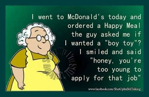 I went to McDonald's today and ordered a Happy Meal.