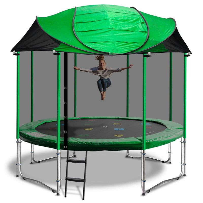 10ft Trampoline Roof Only Choose Your Colour Blue Pink Green Wooden Canopy Canopy Design Crib Canopy