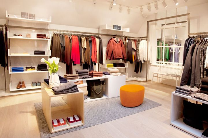 professional retail and interior design, material and lighting