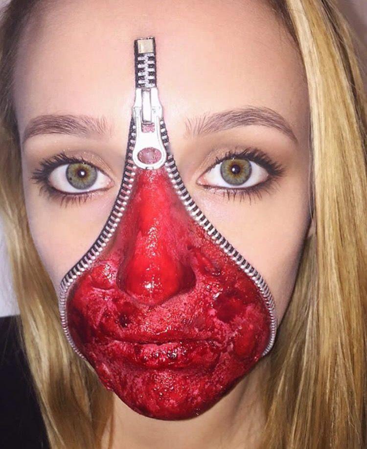 Maquillage Halloween Zipper.Zipper Face Halloween Sfx Makeup Zipper Face Halloween Zipper Face Halloween Face Makeup