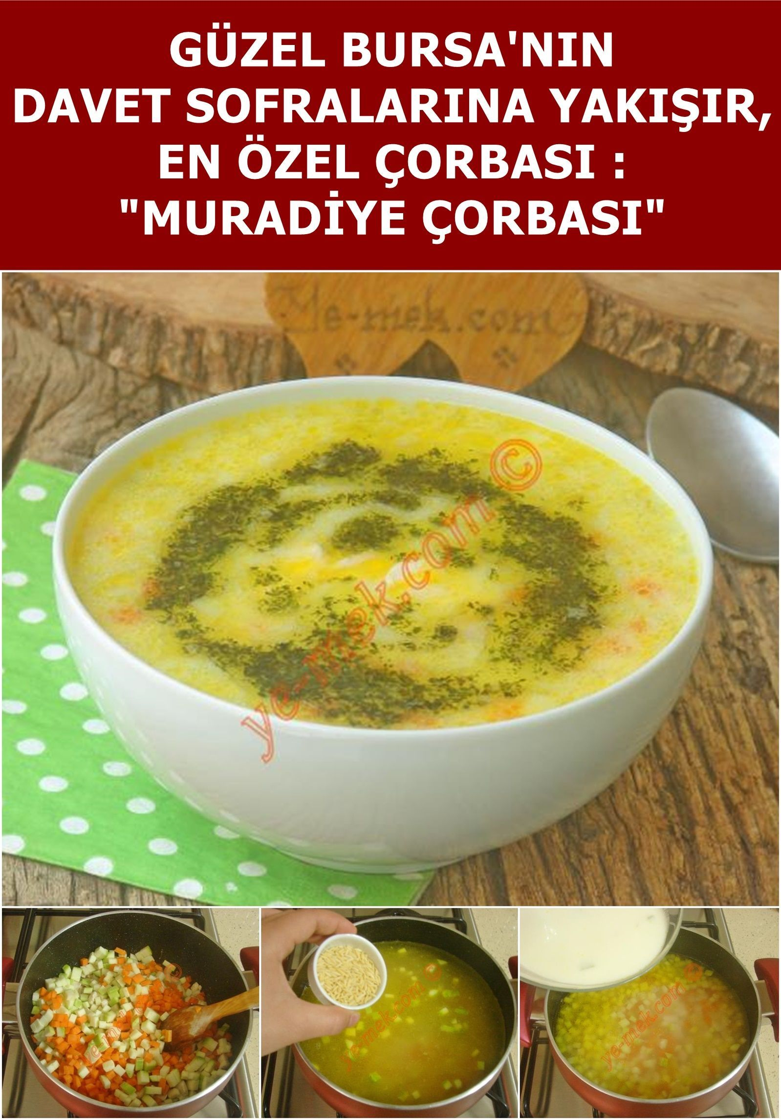 Muradiye Çorbası (Bursa Yöresi) # Güzel Bursa'nın en özel çorbalarından  biri... İçerisinde tavuk eti bulunduran v…   Delicious soup, Delicious soup  recipes, Recipes