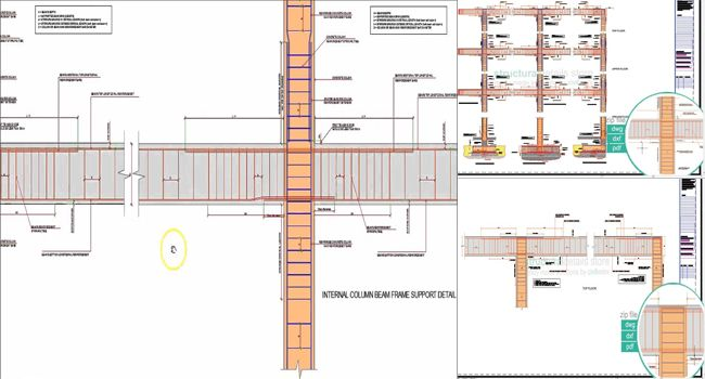 It is a sample CAD dwg drawing that contains entire set of