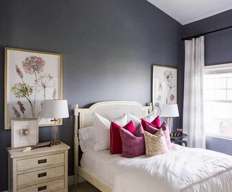 Perfect U201cWe Love How All The Whites And Creams Really Pop Against This Slate Blue  Paint. Sherwin Williams Storm Cloud. :: @kateosborneu201d