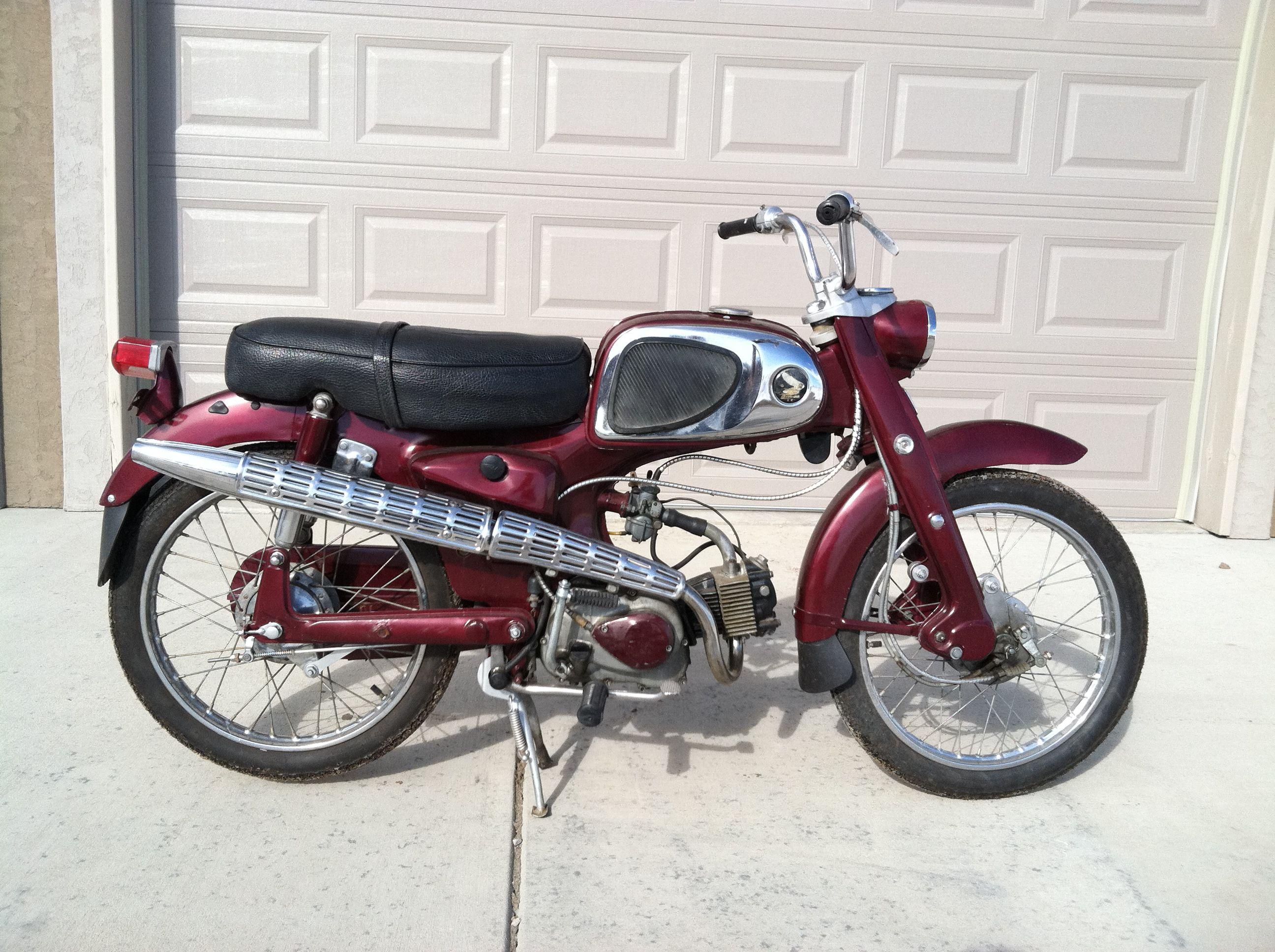 1964 honda c110 50cc ohv engine with 4 spd transmission vintage honda motorcycles pinterest. Black Bedroom Furniture Sets. Home Design Ideas