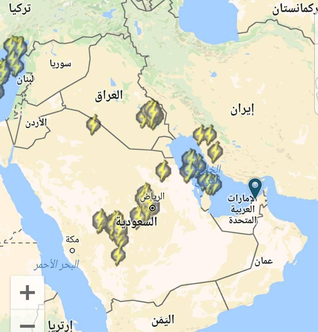 شبكة أجواء إشارات البرق حاليا رابطة أجواء الخليج G S Chasers Instagram Posts Instagram Map