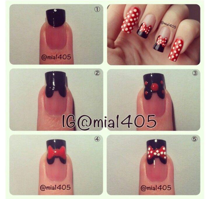 Minnie Mouse Nails   my nail art assignment   Pinterest   Minnie ...