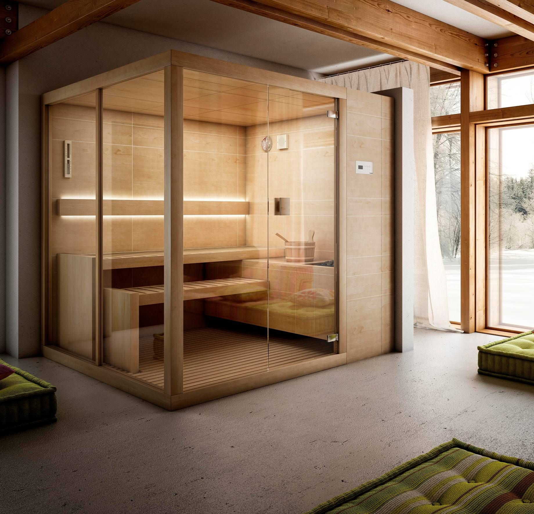 Perfect  ucArja ud Finnish Saunas stands out for the extensive range of dimensions that make