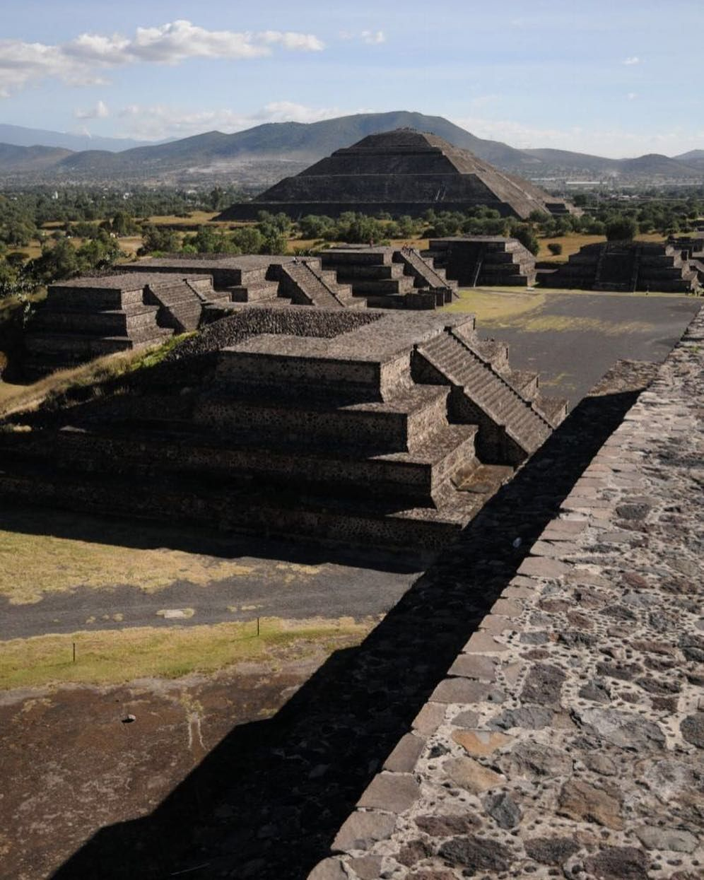 The Ruins Of Teotihuacan Just Outside Of Mexico City