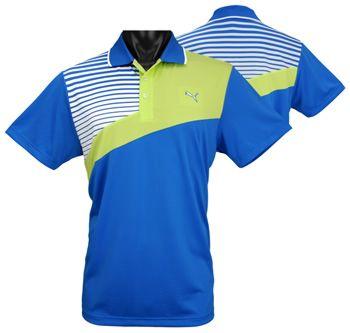 Puma Colorblock Stripe Tech Golf Shirts - ON SALE! | Golf shirts ...