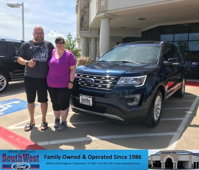 Congratulations Jason On Your Ford Explorer From Kat Brownlee At