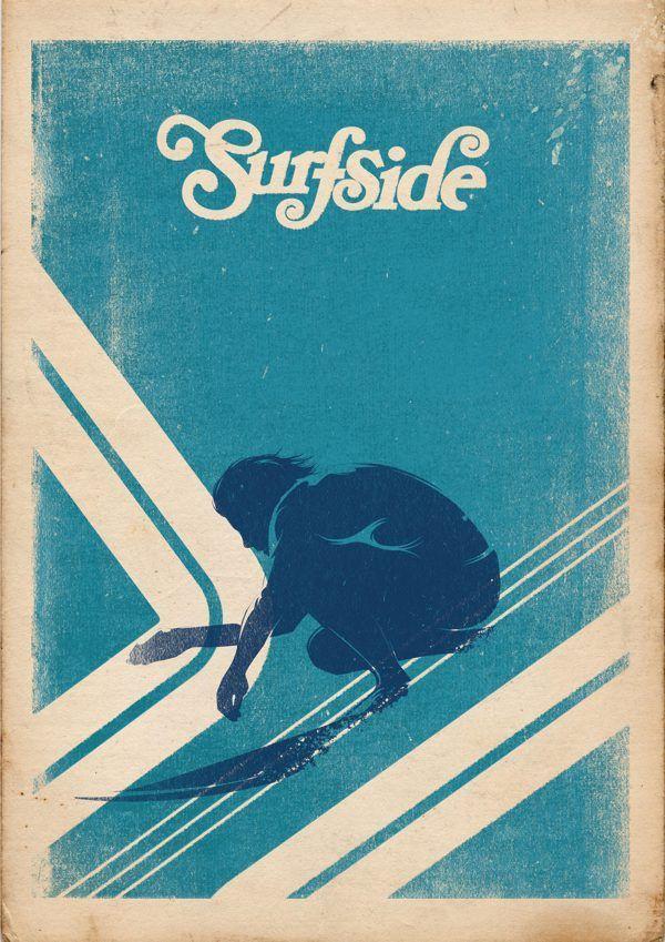 Surf Artwork For Enviro Surf Poster Vintage Surf Retro Surf