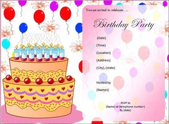 Editable Birthday Invitation Cards Templates