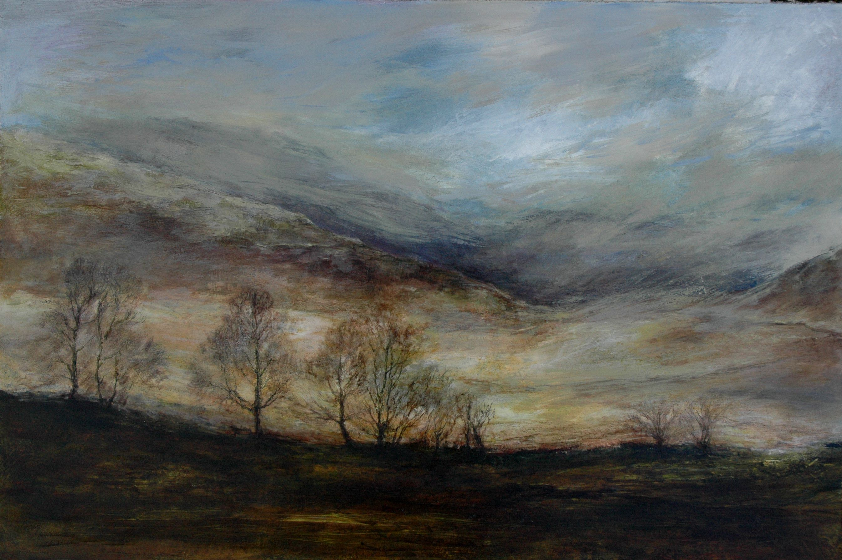 Sweet Auburn The Langdale Valley The Lake District Cumbria England Oil Painting On Board By Sue Contemporary Landscape Painting Landscape Paintings Painting