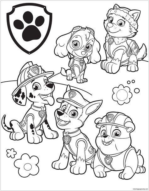 Paw Patrol 39 Coloring Page Paw Patrol Coloring Pages