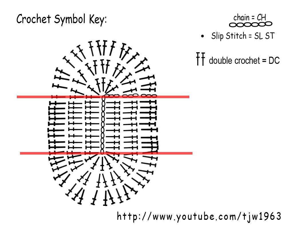 Ovaal Haken Deel Een Van Tasje Haken Crochet Crochet Patterns