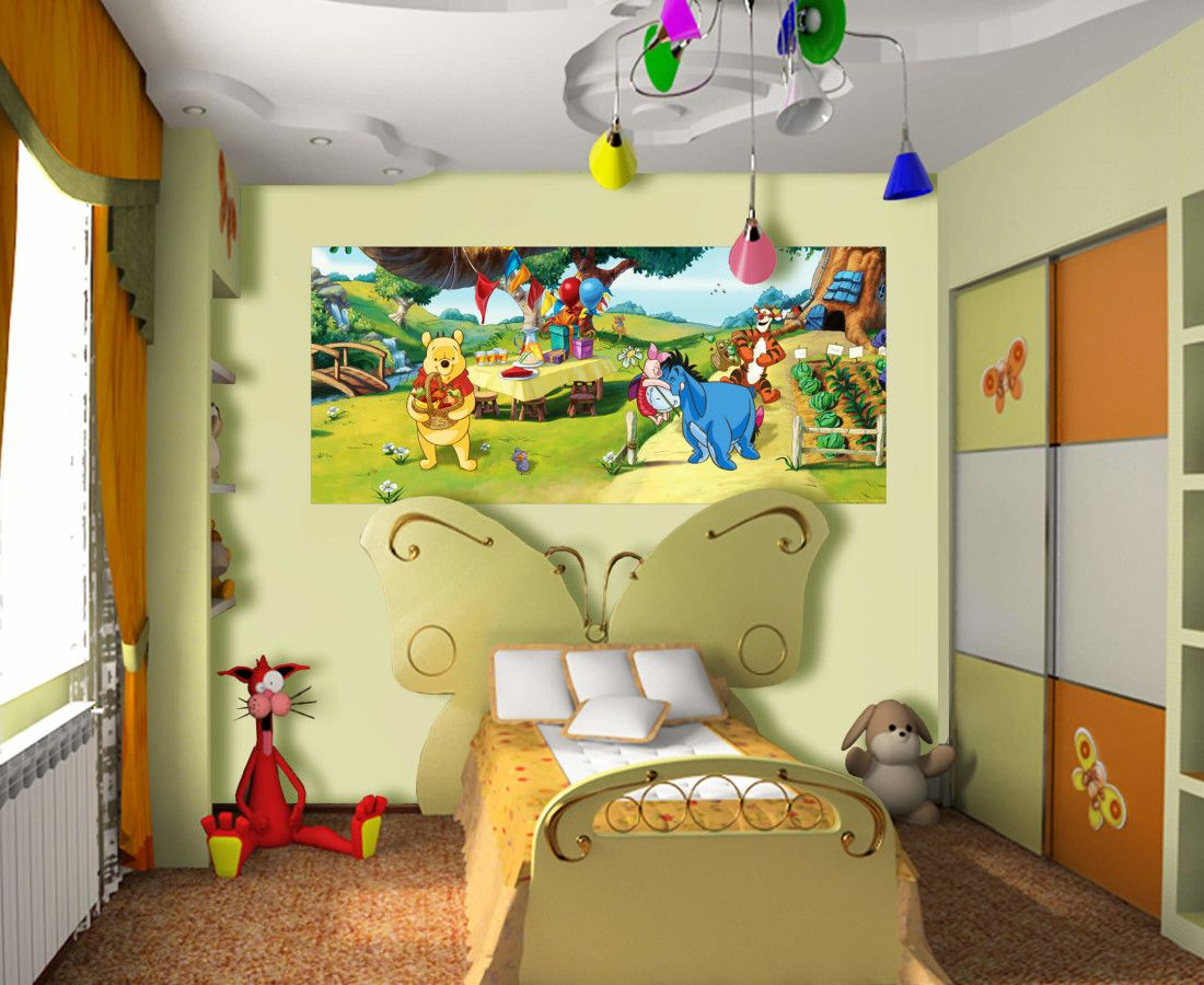 Winnie the Pooh Disney Wall by WallandMore! Best for Kids Bedroom ...