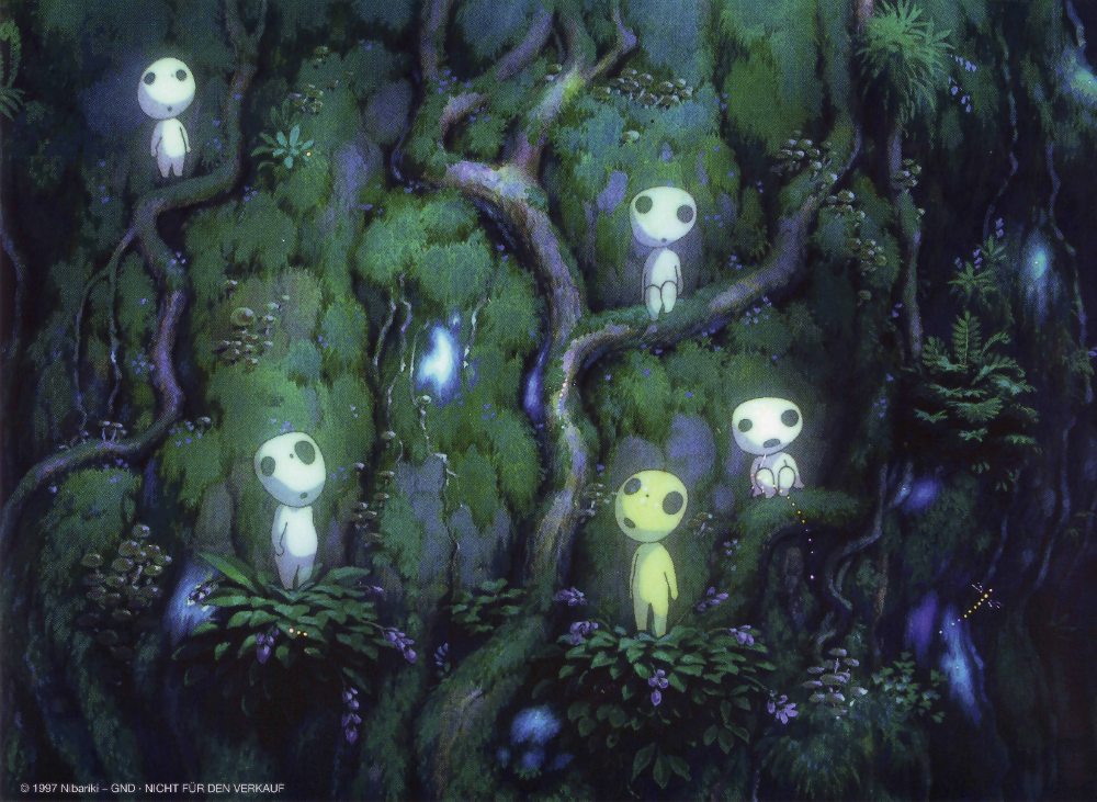 Princess Mononoke Wallpaper And Scan Gallery Minitokyo Animatiefilms Japanse Kunst Anime