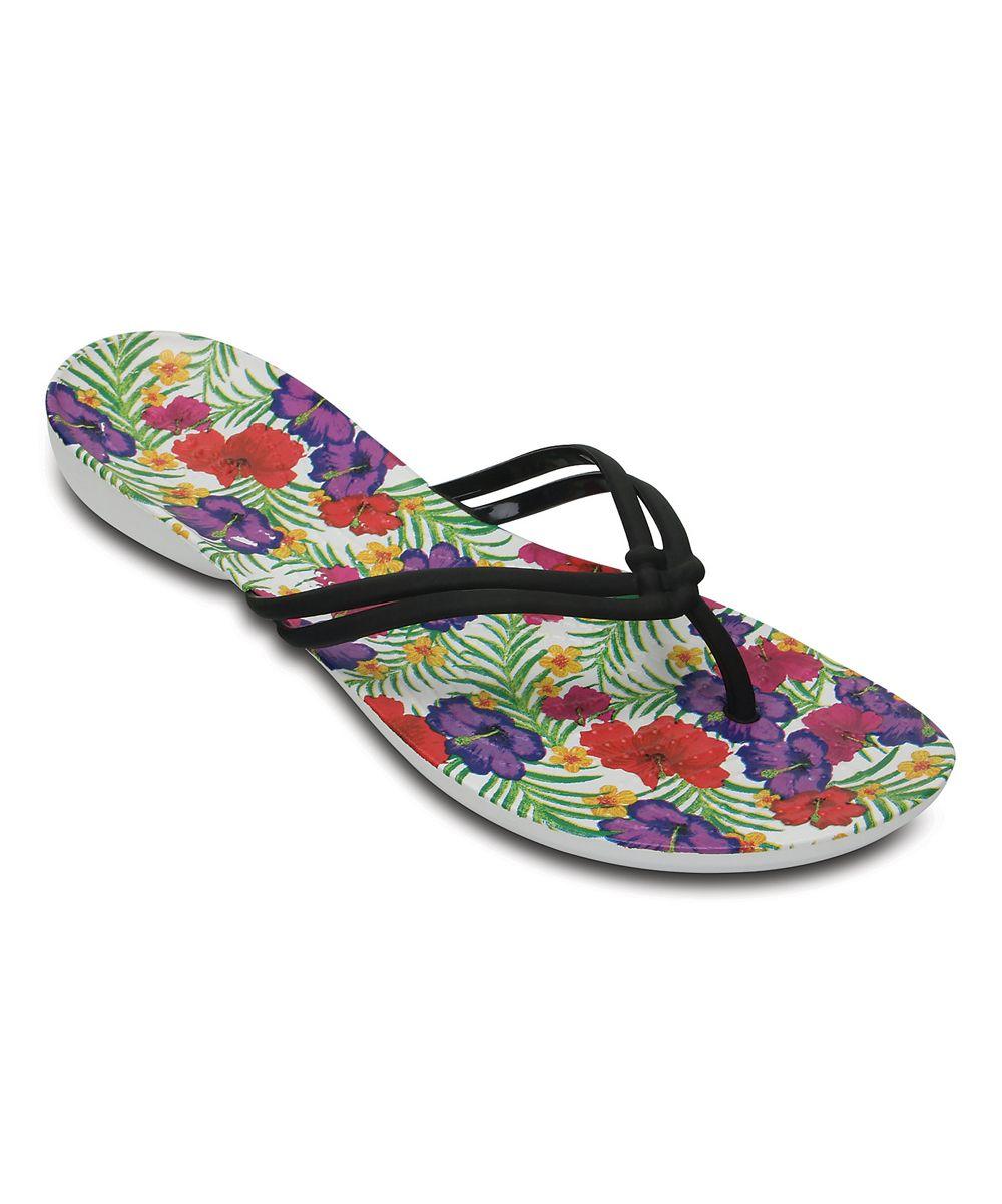 6c6a0714e55939 Green   Purple Floral Isabella Flip-Flop - Women