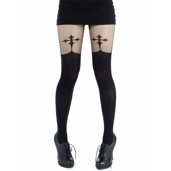 feab818f5999e Pamela Mann Goth Cross Suspenders ( 14) ❤ liked on Polyvore featuring  intimates