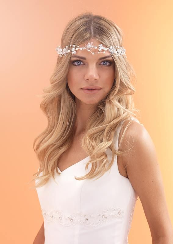 A gorgeous new brow band for 2015. The perfect headpiece for a boho chic bridal style.