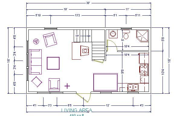 Some Pics Of My 16 X 24 Shack Small Cabin Forum 1 Tiny House Floor Plans Cabin Floor Plans Loft Floor Plans