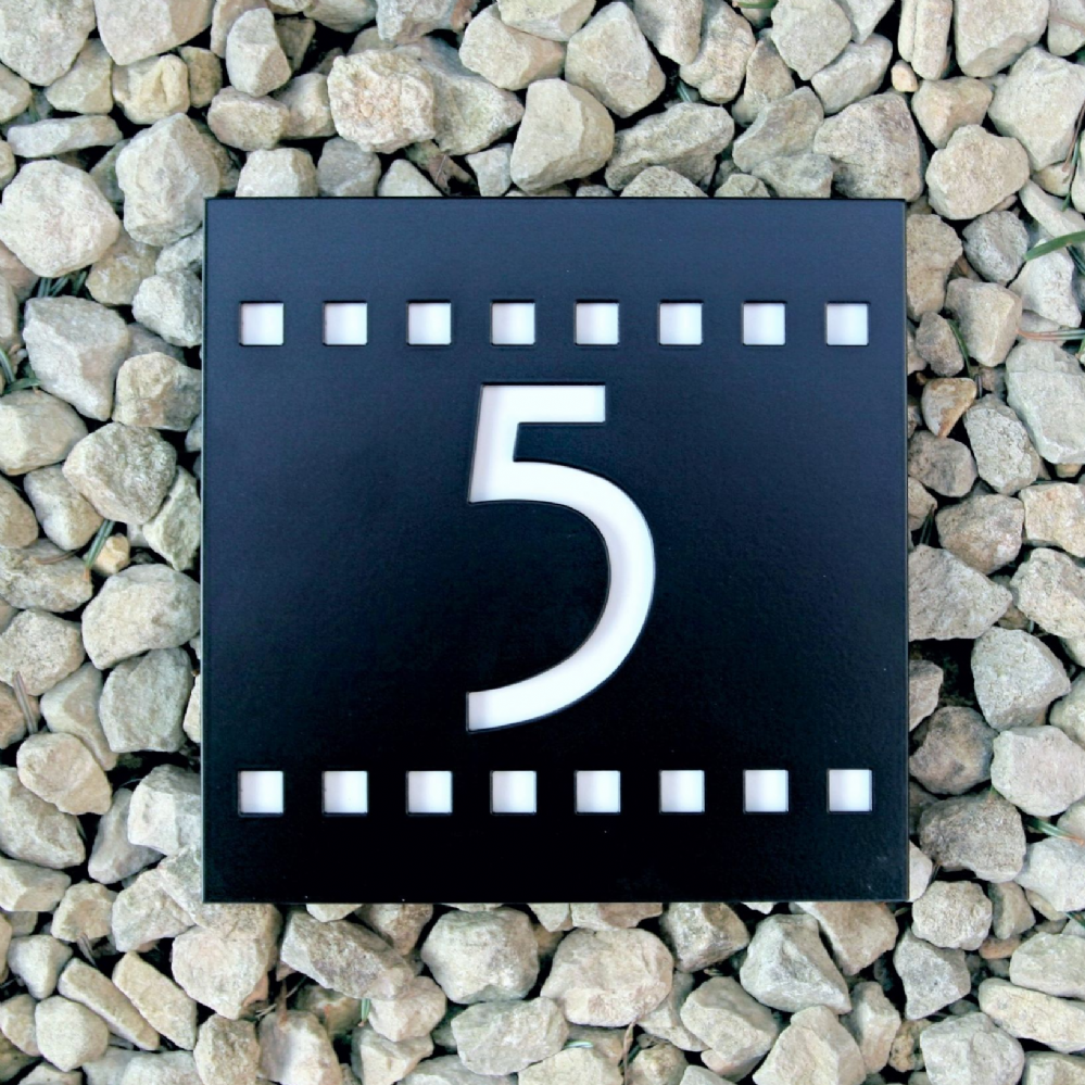 This Beautiful And Unique House Number Plaque Is Inspired By A Font Similar To That Used By The Scottish Unique House Numbers House Number Plaque House Numbers