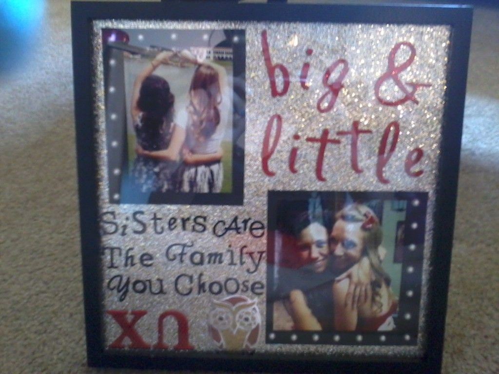 Chi Omega Big/ Little Collage (not the best picture quality)