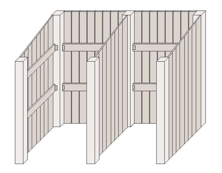 m lltonnenbox selber bauen die f llungen montieren garten pinterest garage garden und. Black Bedroom Furniture Sets. Home Design Ideas