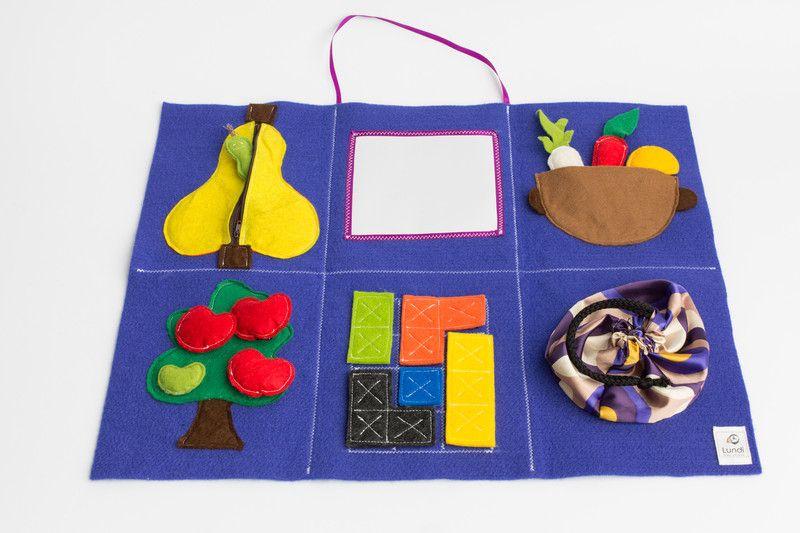 Mata sensoryczna, edukacyjna, filc, niebieska | Crafts, Diy