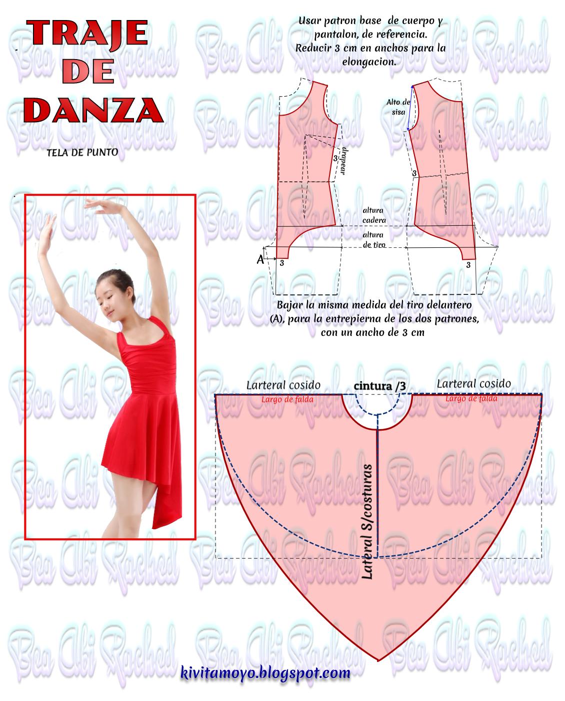 KiVita MoYo : TRAJE DE DANZA | Moldes de vestido | Pinterest | Traje ...