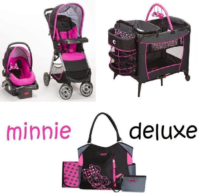 Minnie Mouse Newborn Set Play Yard Travel System Baby Girl