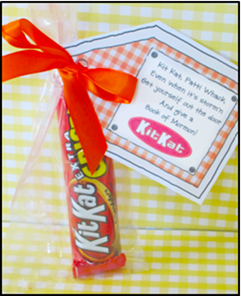 "Candy Sayings Missionary ""Kit Kat"" 